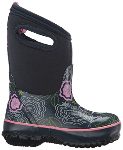 Bogs Classic High Waterproof Insulated Rubber Neoprene Rain Boot Snow, Posey Print/Dark Blue/Multi, 3 M US Little Kid by Bogs (Image #7)