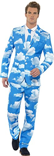 Smiffy's Men's Sky High Suit, Jacket, pants and Tie, Stand out Suits, Serious Fun, Size XL, 40086
