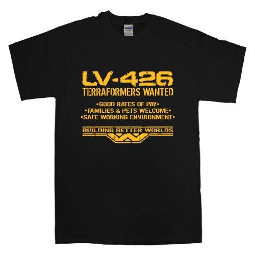 8Ball Originals - Mens T Shirt - LV-426 Terraformers Wanted