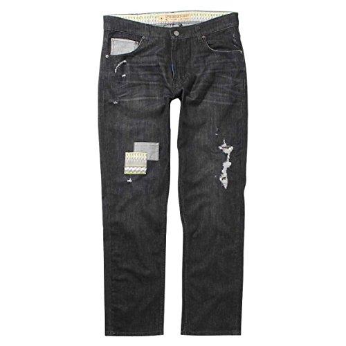 LRG Mens Nomadic Addict TS Denim Pant 34 Black - Jeans Addict