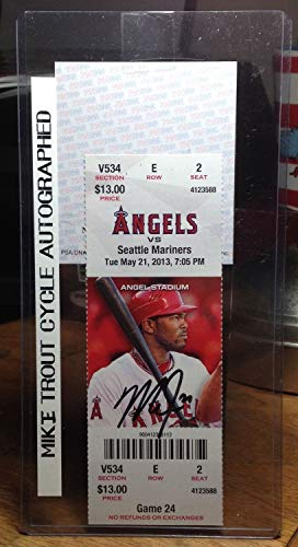 Mike Trout Autographed Signed Cycle Ticket 5/21/2013 PSA/DNA
