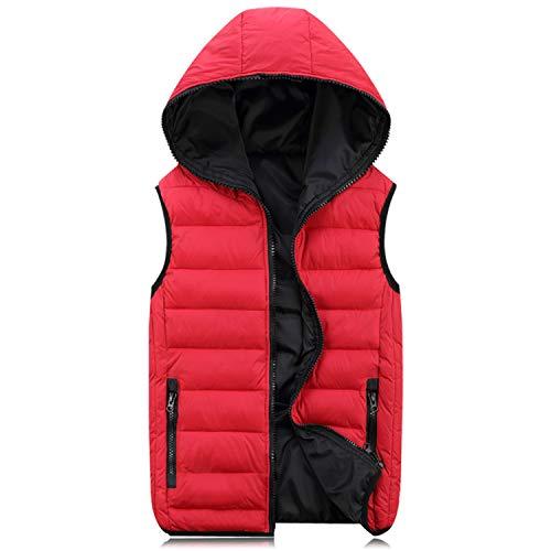 Sleeveless Jacket Warm Coats Winter For Mens Vest Fashion Women Men Guoxuee L Hooded dUnqw5d4