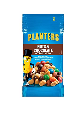 Planters Nut and Chocolate Trail Mix, 2 oz. Single Serve Bags (Pack of 72) -