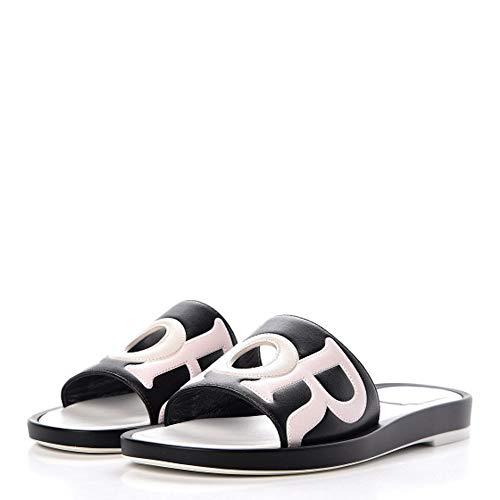 - Dior Christian Womens Marina Leather Open Toe Casual, Black/Rose, Size 6.0