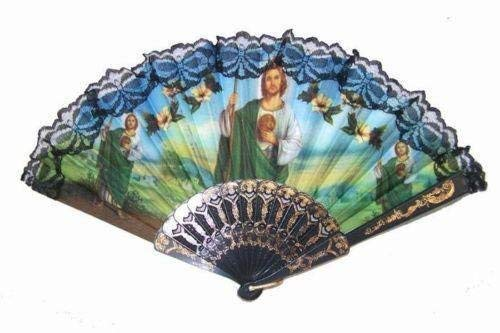 Vintage Inspired Saint Jude Jude the Apostle Folding Fan for Church Party/Baptism Favor/Table Setting/Wall Decoration/chair Setting [並行輸入品] B07V7BVJL9