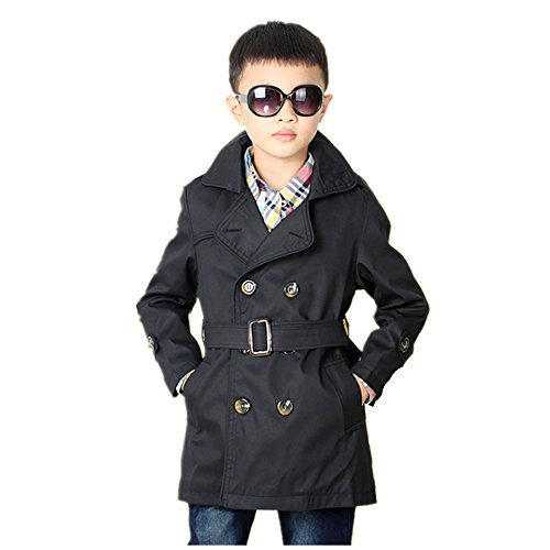 LJYH Big Toddler Boys' Classic Peacoat Hooded Toggle Coat - Coat Hooded Toggle