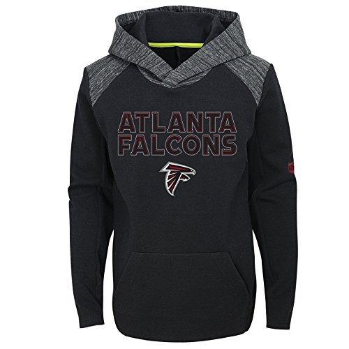 Outerstuff NFL Atlanta Falcons Youth Boys Engage Pullover Performance Hoodie, Black, Youth ()