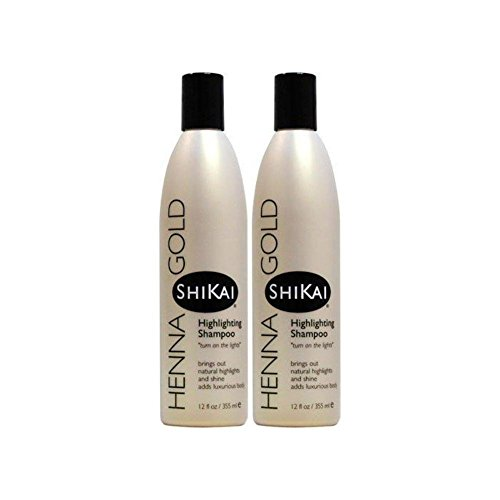 ShiKai Henna Gold Highlighting Shampoo 12 fl oz Liquid (Pack of 2) ()