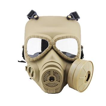 Airsoft cara completa protección máscara máscara de protección Militar protección Paintball máscara de gas estilo htuk