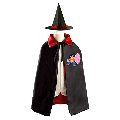 DIY Steven Universe Heroes Costumes Party Dress Up Cape Reversible with Wizard Witch Hat (Halloween Trick Or Treating Origin)