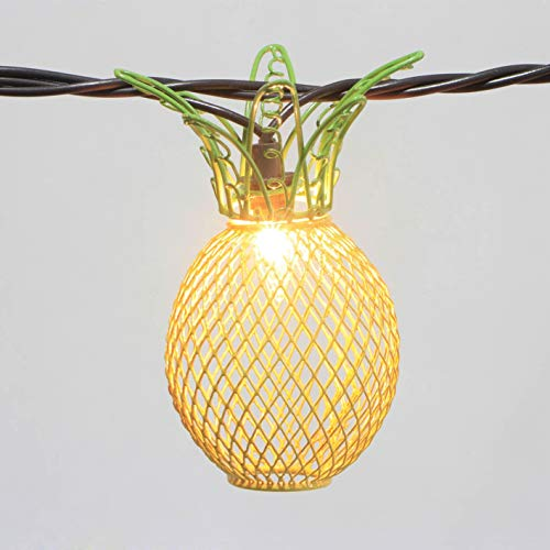 Pineapple String Lights - 6ft. Per Decorative String Light - 10 Fun Pineapple Fun Lights Per String! Battery Power Supply (Battery Power)