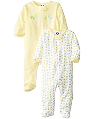 Gerber Unisex Baby 2-Pk Snap Zip Front Neutral