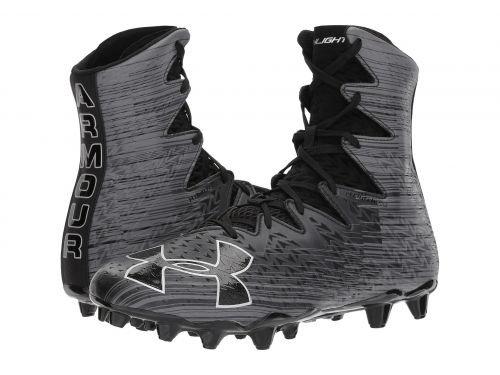 Under Armour(アンダーアーマー) メンズ 男性用 シューズ 靴 スニーカー 運動靴 UA Highlight MC - Black/Metallic Silver [並行輸入品] B07BKW2BBN