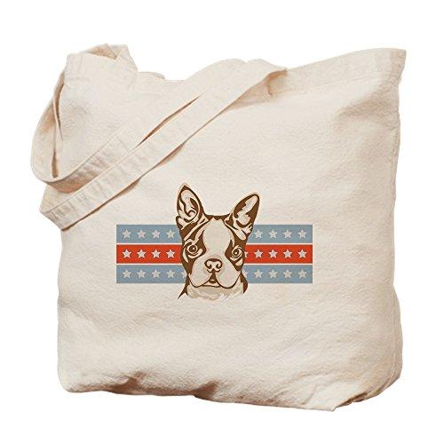 - CafePress - Boston Terrier - Natural Canvas Tote Bag, Cloth Shopping Bag