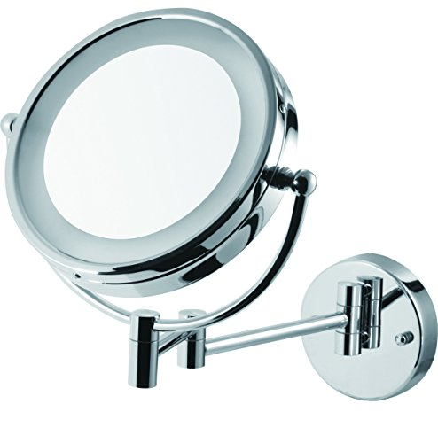 8.5' Wall Mounted Adjustable Battery-Powered Lighted Vanity Mirror with 5X Magnification