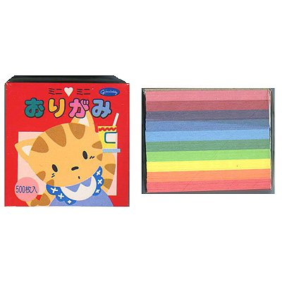 Showagrimm Mini Mini Origami Paper, Set of 500 Sheets (Japan Import)