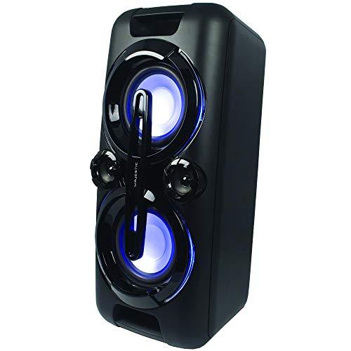 Majestic TS 80R BT USB AX – Bluetooth Multimedia Sound System 120W LED plaat optiek 7 kleuren 2 microfooningangen 2x USB…