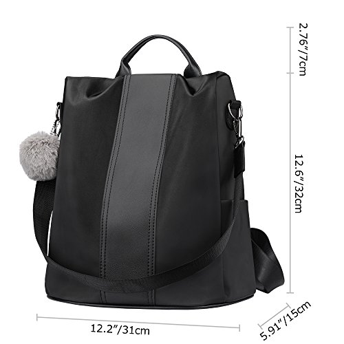 for Bag Girls Bags Purse Anti theft Nylon School Backpack shoulder Women Waterproof SAMSHOWME Black FwqPUx