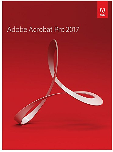 Adobe Acrobat Pro Professional 2017 for Windows Part Number