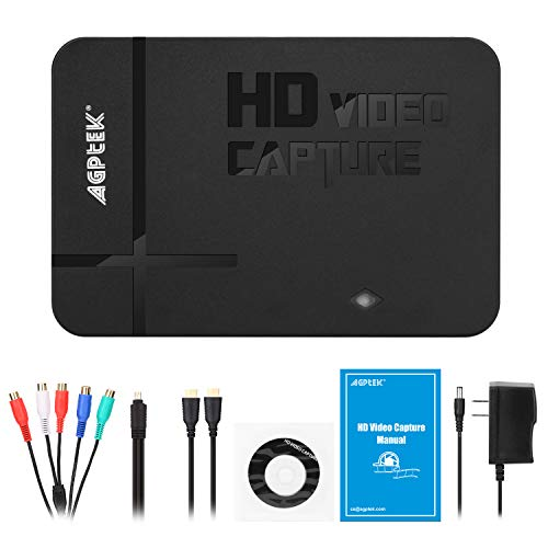 1080P Game Video Capture Card with HDMI and YpbPr Input, Mic-in Video Recorder Compatible with Xbox 360/One/ PS3 /PS4 etc