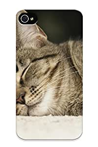 Slim Fit Tpu Protector Shock Absorbent Bumper Cats Animals Sleeping Case For Iphone 4/4s