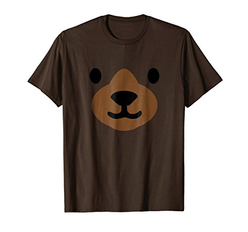 Mens Bear Face Halloween Costume Shirt Funny Large Brown