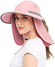 Wmcaps Outdoor Sun Hats for Women with UV Protection Wide Brim, Hiking/Safari/Fishing Hat with Neck Flap