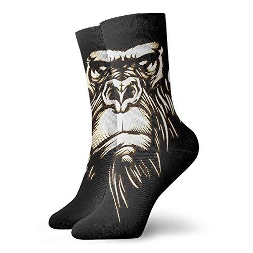 MSONNET Cozy Warm Winter Socks Cool Gorilla Monkey Fun Colorful Dress Socks Christmas Casual Socks Holiday Cute Cartoon Socks