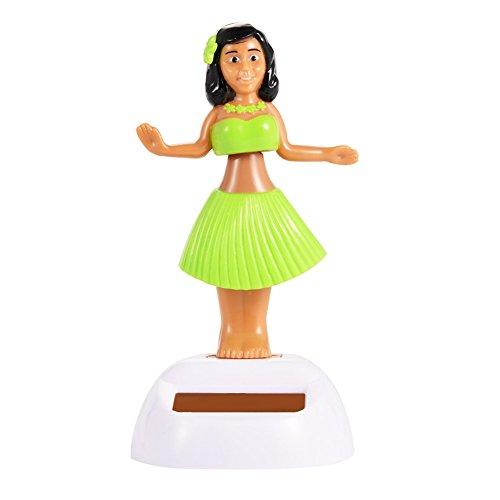 Zehui 1PCS Solar Powered Dancing Beauty Decoration Beautiful Girl Green
