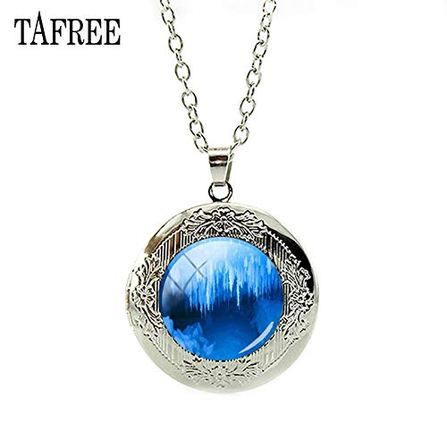 - Pendant Necklaces - Vintage Style Mammoth Cave Locket Necklace Glass Cabochon Decoration Chain Exquisite Jewelry FA531 - by Mct12-1 PCs