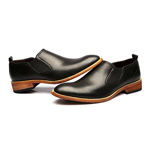 Enfiler Chaussures Homme 2018 Color EU à Hommes Richelieus pour Noir 39 Taille qacZwCEZ