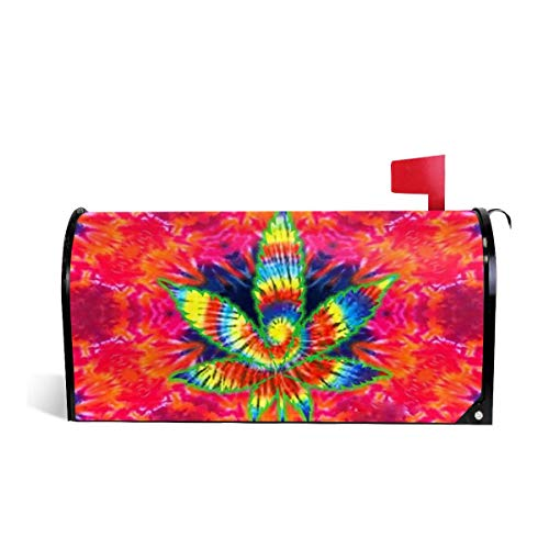 Mefond Magnetic Mailbox Cover Marijuana-weed-drugs-psychedelic-1920x1080-UP-wallpaper-wp200669 Post Letter Box Wraps Garden Yard Home Decor for Outside Oversized 25.5