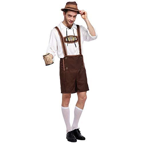 Dora Bridal Halloween Costume for Men German Oktoberfest Costumes Men's Bavarian Guy Shorts -