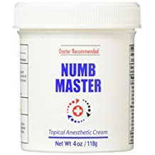 Numb Master 5% Topical Anesthetic Lidocaine Cream, Made in USA, Fast Penetration, Liposomal Lidocaine, Non-oily (4 oz)