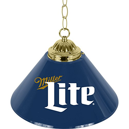 Miller Lite Retro Logo Single Shade Chrome Bar Lamp - 14 (Retro 14 Light)