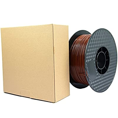 ALFAGO Brown 1.75mm PLA 3D Printer Filament - 1kg Spool / Roll (2.2 lbs) +/- 0.02mm Accuracy Professional Grade 3D Printing Filament,