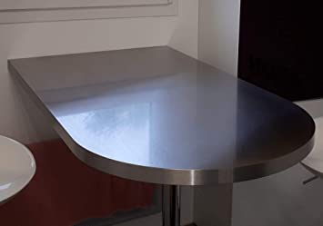 Plan De Travail Inox Forme Demi Lune L 100 X H 60 Cm Ep