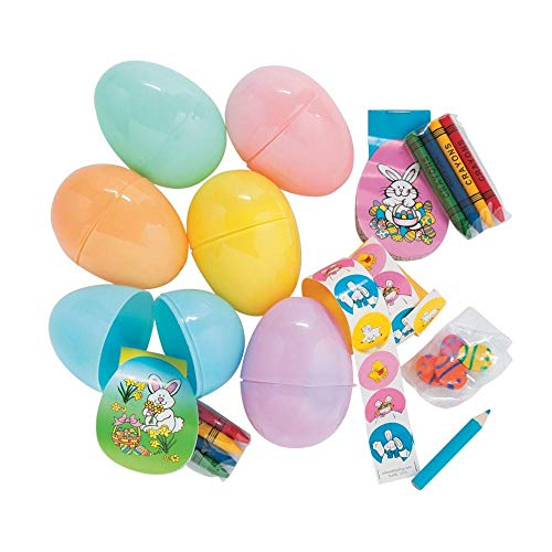 Stationery-Filled Jumbo Pastel Eggs - Easter & Party (Filled Pastel Eggs)