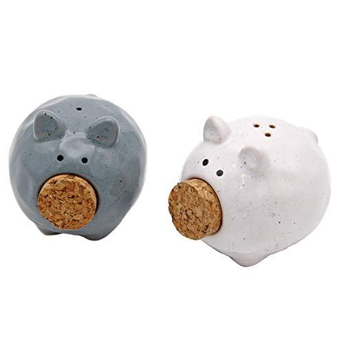 DEI Ceramic Pig Salt & Pepper Shaker - Salt Colored Pig