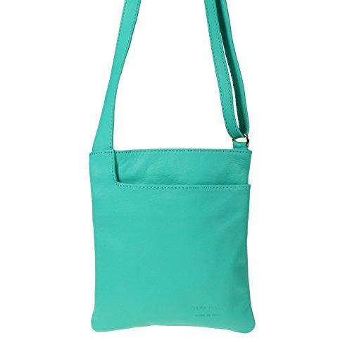 Vera Pelle - Bolso cruzados para mujer verde azulado verde