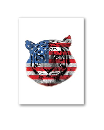 Pekatees Tiger Canvas Wall Art Cute Tiger Canvas Tiger Lovers Gifts for Decoration USA Flag Wall Decoration Firework Canvas Wall Art Patriotic Decoration 19