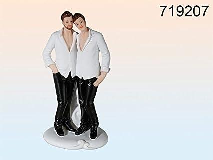 Bomboniere Matrimonio Gay.Statuina Coppia Omosessuale Maschile Sposi Matrimonio Bomboniere