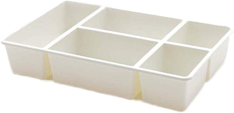 Grandes Desktop cosméticos caja de tocador cajones compartimentos para maquillaje Pintalabios Ropa Interior Blanco: Amazon.es: Hogar