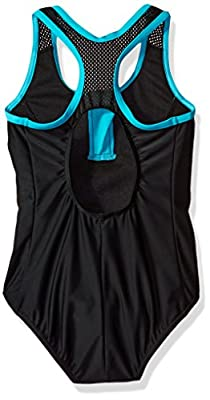 ZeroXposur Big Girls' Mahalo Zipline 1pc Swimsuit W/Skirt