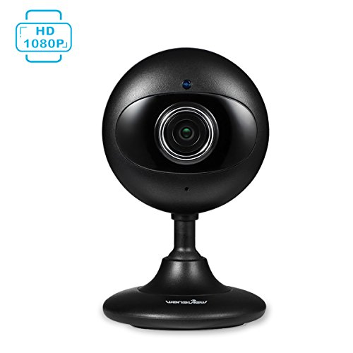 Wansview Home Security Camera, 1080P Wireless WiFi Indoor IP Surveillance Indoor Camera for Baby/Elder/ Pet/Nanny Monitor with Night Vision and Two-Way Audio-K3 (Black)