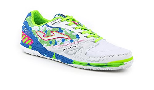 JOMA CALCETTO SALA MAX 602 WHITE-GREEN FLUOR-ROYAL INDOOR 40