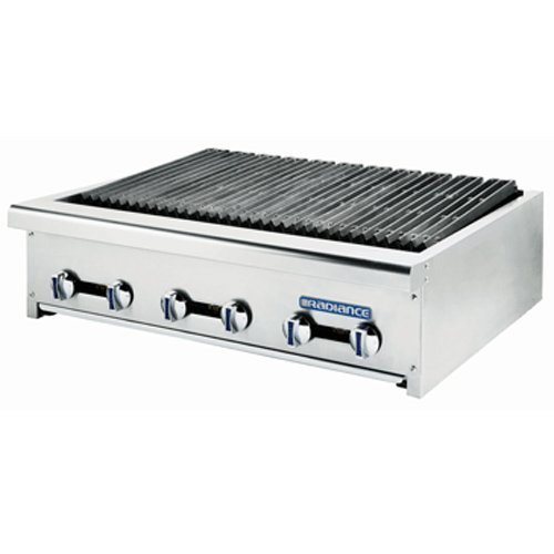 Turbo Air Radiance TARB-36 Countertop Gas Charbroiler 36