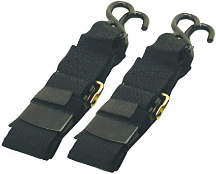 Heavy Duty Boat Transom Ratchet Tie Down Straps 4/' 2 Pack