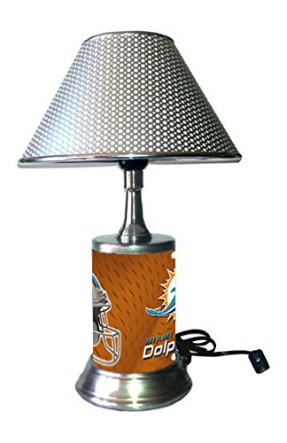 Miami Dolphins Lamp with chrome shade