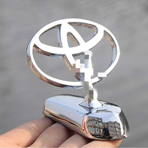 bearfire 3D Emblem Car Logo Front Hood Ornament Car Cover Chrome Eagle  Badge (Toyota)